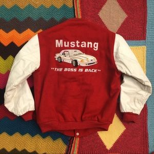 1990's Ford Mustang Racing Letterman Jacket~